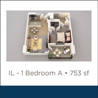 Maravilla at the Domain IL 1 Bed A