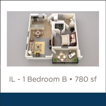 Maravilla at the Domain IL 1 Bed B