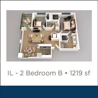Maravilla at the Domain IL 2 Bed B