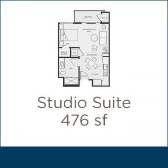 Peninsula Del Rey Studio Suite Floor Plan
