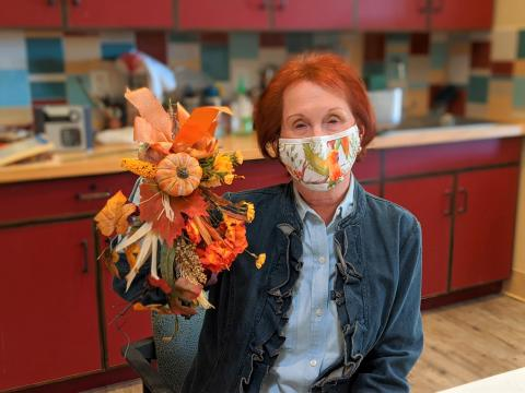 Maravilla Scottsdale resident with festival fall arrangement
